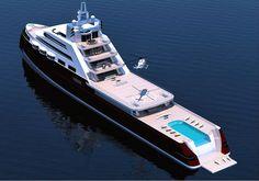Amazing Yachts: Icon Yachts Explorer Yacht Concept by Joachim Kinder