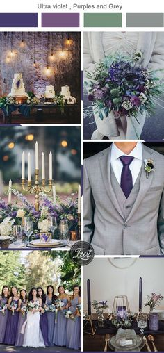 ultra violet,green and grey wedding color combos - Wedding Colors - Purple And Green Wedding, Gray Wedding Colors, Wedding Color Schemes, Lavender Wedding Theme, Grey Wedding Theme, Popular Wedding Colors, Wedding Color Combinations, Mauve Wedding, Wedding Themes