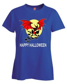 Happy Halloween Scary Vampire Bat - Ladies T Shirt – Cool Jerseys