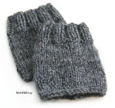 knitted boot cuffs: free pattern