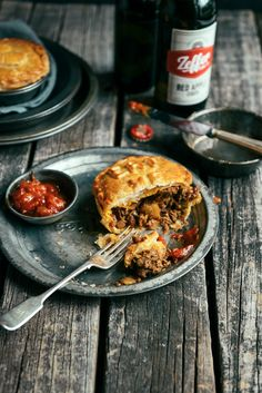 Lamb Curry Puff Pastry Pies with Onion, Celery, Green Apple, Tomato Chutney, Sultanas and Sesame Seeds