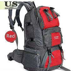 a87ad8933970 TUM 4050L Outdoor Backpack Hiking Bag Camping Travel Waterproof Pack  Mountaineering Red     Click