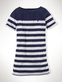 Engineered-Stripe Dress - Girls 7-16