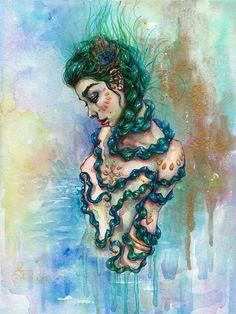 Snake Whisperer - painting by Tanya Shatseva
