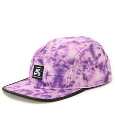 Get radical with your style thanks to this 5 panel hat made with a lightweight construction in a Purple tie dye print and an adjustable strapback sizing piece.