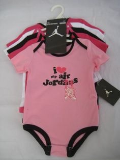 "Nike Jordan Infant New Born Baby Girl Lap Shoulder Bodysuit 5 PCS with Different Color and ""Jordan"" Sign Pattern (0-3, 3-6, 6-9, 9-12 Months) NEW (6-9 MONTHS) $49.99"