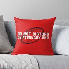 'Do not disturb on the Throw Pillow by HiberniaApparel