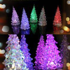 Árbol de navidad Decoración Para El Hogar de Cristal de Hielo de Colores Cambiantes LED de Escritorio Decoración enfeites de natal FEN #