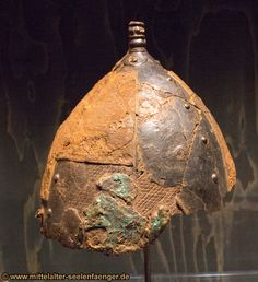 Original viking age helmet - nationalmuseum copenhagen 2013 - temporary exhibition (VIKING)