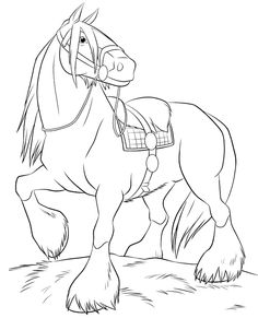free horse printable coloring pages for preschool Horse Coloring