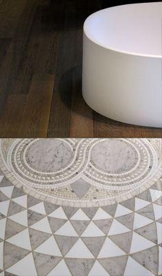 Pavimento mosaico e legno #italyluxury#design#stanzedautore