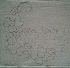 Loucos por pintura - Aulas de pintura em tela e tecido: Dicas de pintura grátis - Arranjo de flores bem fácil. - Pintura em tecido.