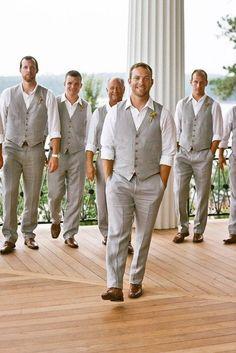Mens Wedding Attire For Beach Celebration ❤️ See more: http://www.weddingforward.com/mens-wedding-attire/ #weddings
