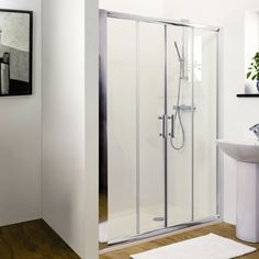 This spacious shower is ideal for large family bathrooms.