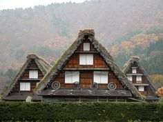 Gassho-zukuri houses in Shirakawa-go Japan