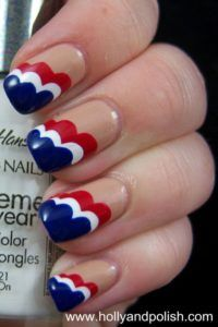 Patriotic Nail Art Inspiration - Red White and Blue Manicures for the Fourth of July - Good Housekeeping Holiday Nails, Christmas Nails, Usa Nails, Aycrlic Nails, 4th Of July Nails, July 4th, Patriotic Nails, Blue Nail Designs, Creative Nails
