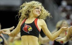 2013 photo gallery of hot Louisville Cardinals cheerleaders and ladybirds from the University of Louisville.