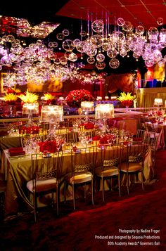 Gold Bella Braid with Gold Velvet Cushion Chameleon Chair at the Academy Awards® Governors Ball (Sequoia Productions) #events #eventdesign #eventdecor  #eventprofs  #chairdesign #chairs