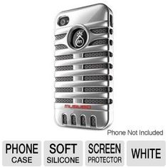 Musubo Retro MU11003WE Phone Case - For iPhone 4/4S, Double-Layers, Polycarbonate Exterior, Soft Silicone Interior, Screen Protectors Included, White