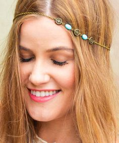 Another great find on #zulily! Turquoise & Bronze Sabina Headband by FPCO Limited #zulilyfinds