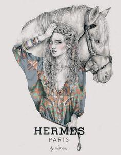 Hermes Paris by Marynn #illustration