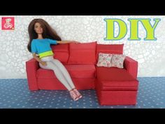 DIY для кукол ✂ Мебель для кукол. Как сделать Диван для кукол ✂ How to make a doll sofa - YouTube