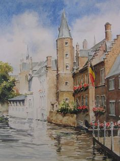 Aquarel van Surod, Brugge