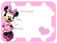 Minnie Mouse Invitation - FREE PDF Download