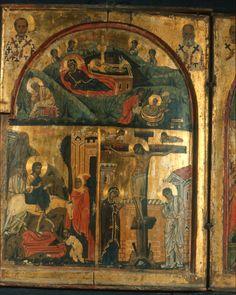 Nativity, Entry into Jerusalem, and Crucifixion Vatican Library, Byzantine Art, Icon Collection, Catholic Art, Christian Art, Illuminated Manuscript, Nativity, Religion, Old Things