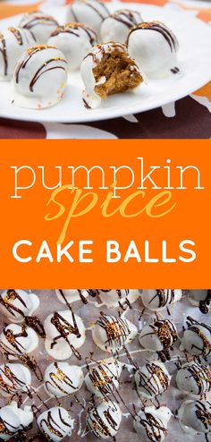 Alright, you know how yesterday I mentioned that I was going crazy thinking about the pumpkin cake balls I made last year? But I couldn't make them because they are so crazy delicious that I'd probably just shovel the entire batch into my pie cake ball hole and then crawl off and die the happiest/most …