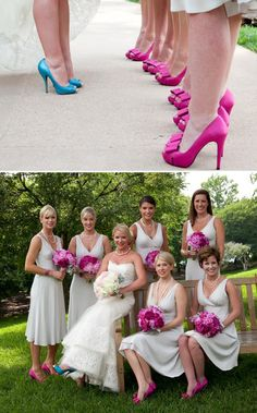 bride in blues shoes