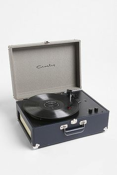 Crosley AV Room Portable USB Turntable - need this for the living room, I think!  Thanks, @Annie Murray, for the tip $160
