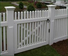 Wide Chestnut Hill Walk Gate - Three feet high, 3 wide, and handsome in. Wide Chestnut Hi Backyard Gates, Backyard Pergola, Pergola Shade, Walpole Outdoors, White Vinyl Fence, Pergola Pictures, Fence Styles, Chestnut Hill, Wooden Gates