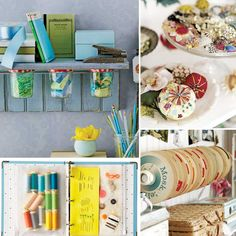 One of my resolutions was to get organized, now here are some really good ideas to organize your DIY supplies!