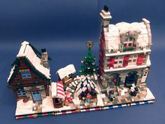 Lego Christmas Sets, Lego Christmas Village, Lego Winter Village, Christmas Ornaments, Lego Projects, Projects To Try, Lego Gingerbread House, Lego Minifigure Display, Lego Moc