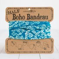 Natural Life Half Boho Bandeau Turquoise & Cream Mandela