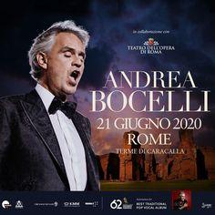 Andrea Bocelli Live alle Terme di Caracalla – Campania Tickets Album, Pop, Live, Musica, Popular, Pop Music, Card Book