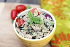 White Bean Quinoa Salad from Eating Bird Food