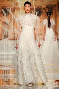 So delicate and different -- YolanCris 2014 · Ethereal Evanescence new bridal collection  Barcelona Bridal