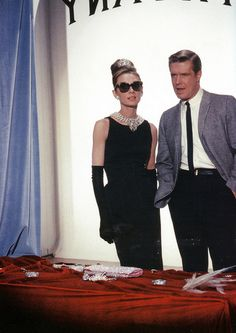 "Audrey Hepburn and co-star George Peppard in ""Breakfast at Tiffany's"" (1961)"