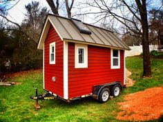 Many people consider a tiny house big living. Tiny houses have smaller sized everything. They have smaller appliances, smaller living. Tiny House Swoon, Small Tiny House, Tiny House Storage, Tiny Houses For Sale, Tiny House On Wheels, Small Houses, Tyni House, Cozy House, Tiny Home Office
