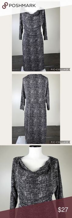 Ann Taylor Drape Dress Ann Taylor Size 12 Patterned Dress Figure Flattering Ann Taylor Dresses Midi