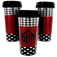 Monogram Hound Around Travel Coffee Mug