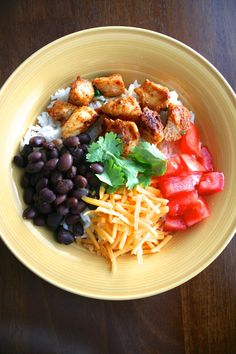 For the Love of Food: Easy Homemade Chicken Burrito Bowls