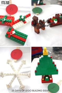 LEGO Christmas Building Ideas Days 5-8 Advent Calendar