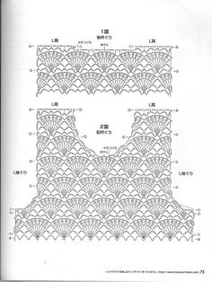 Contiene varias blusas para dama, a crochet. Crochet lace dress pattern for kids: chart for bodice. Skirt needs to be added in pattern of your choice (which is an easy thing to do)This Pin was discovered by ФилLittle girls top pattern Indulgy - Everyon T-shirt Au Crochet, Crochet Shirt, Crochet Girls, Crochet Diagram, Crochet For Kids, Crochet Stitches, Baby Knitting Patterns, Crochet Patterns, Black Crochet Dress