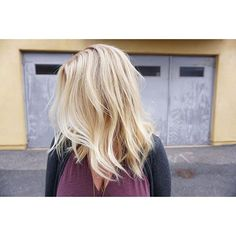 Bombshell pale butter blonde by Aveda artist Sarah Hollinger.