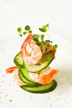 Cucumber Shrimp Appetizer www.tablescapesbydesign.com https://www.facebook.com/pages/Tablescapes-By-Design/129811416695
