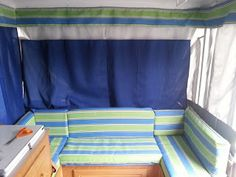 Popup Camper Upgrade - I'm taking sewing classes this fall so I can learn how to do this for next year.