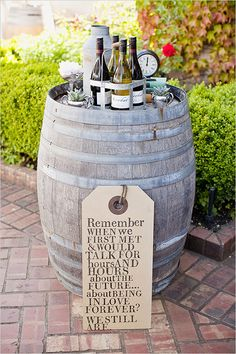 cocktail station ideas + the cutest wedding sign!